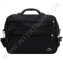 сумка чоловіча на два відділення з пластмасовою ручкою Wallaby 2653 чорна