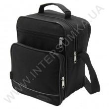 сумка мужская вертикальная Wallaby 2660 чёрная