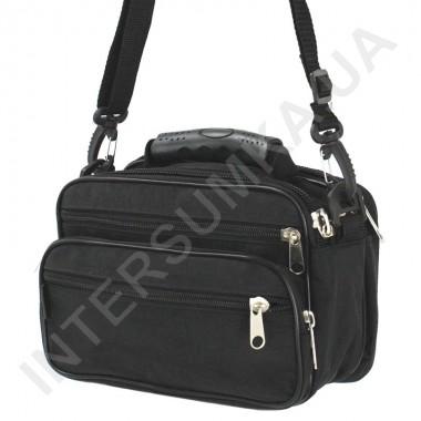 Заказать сумка мужская малая с резиновой ручкой Wallaby 21231 черная в Intersumka.ua