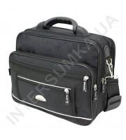 сумка мужская полукаркас с пластмасовой ручкой Wallaby 2513 чёрная