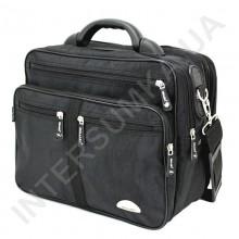 сумка чоловіча на два відділення напів-каркас з розширенням Wallaby 25275 чорна