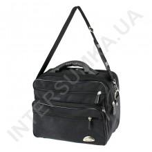 сумка чоловіча на 2 відділення напів-каркас з пластмасовою ручкою Wallaby 26531 чорна