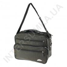 сумка чоловіча на 2 відділення напів-каркас з пластмасовою ручкою Wallaby 26531 хакі