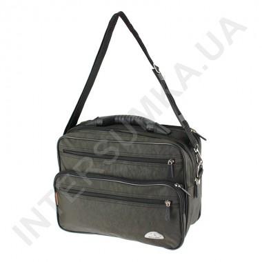 Заказать сумка мужская на 2 отдела полу-каркас с пластмассовой ручкой Wallaby 26531 хаки в Intersumka.ua