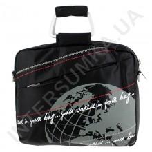 """сумка для ноутбука 15,4-15,6"""" с металлическими ручками Wallaby JK1-06 чёрная"""
