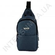 Рюкзак городской на одной лямке (слинг) на два отдела Wallaby 112 синий.