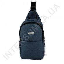 Рюкзак городской на одной лямке на два отдела Wallaby 112 синий.