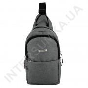 Рюкзак городской на одной лямке (слинг) на два отдела Wallaby 112 серый.