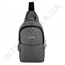 Рюкзак городской на одной лямке на два отдела Wallaby 112 серый.