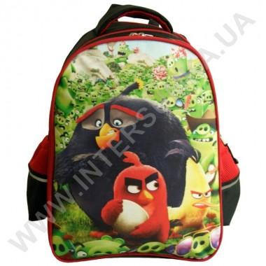 Заказать рюкзак детский YO с ортопедической спинкой 114 angry birds черный на 2 отдела в Intersumka.ua