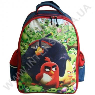 Заказать рюкзак детский YO с ортопедической спинкой 114 angry birds синий на 2 отдела