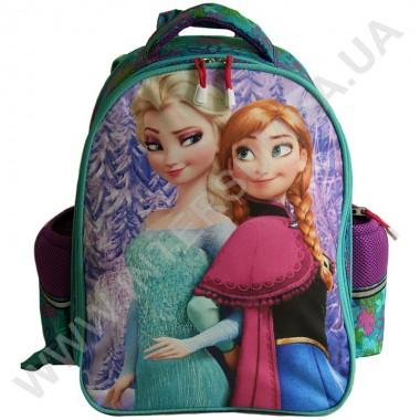 Заказать рюкзак детский YO с ортопедической спинкой 114 Frozen бирюзовый на 2 отдела