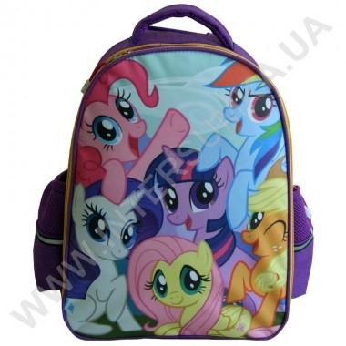 Заказать рюкзак детский YO с ортопедической спинкой 114 little pony фиолетовый на 2 отдела