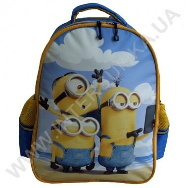 Заказать рюкзак детский YO с ортопедической спинкой 114 миньоны голубой на 2 отдела в Intersumka.ua