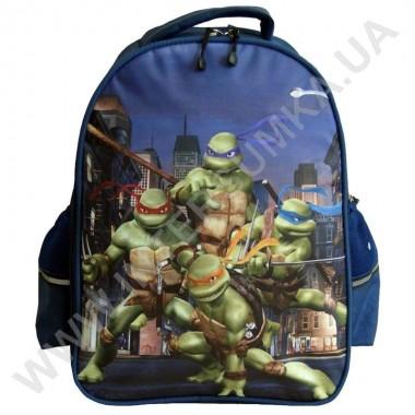 Заказать рюкзак детский YO с ортопедической спинкой 114 нинзя черепашки синий на 2 отдела