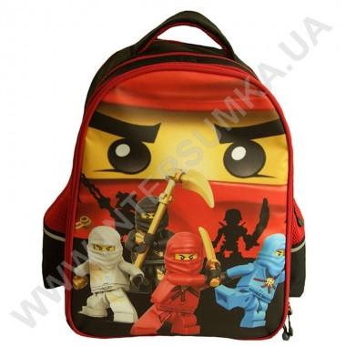 Заказать рюкзак детский YO с ортопедической спинкой 114 нинзяго черный на 2 отдела в Intersumka.ua
