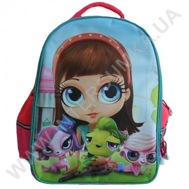 Заказать рюкзак детский YO с ортопедической спинкой 114 petshop розовый на 2 отдела