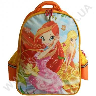 Заказать рюкзак детский YO с ортопедической спинкой 114 Winx оранжевый на 2 отдела