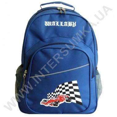 Заказать рюкзак Wallaby  1151 накатка гонка синий