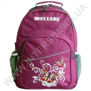 Заказать рюкзак Wallaby 115 накатка бабочки сиреневый