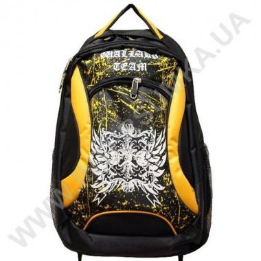 Заказать рюкзак 2 отдела, наружный карман Wallaby 122 черно-желтый