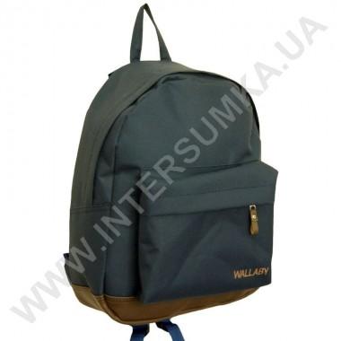 Заказать рюкзак молодежный Wallaby 1351 син-коричневый