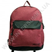 рюкзак молодежный Wallaby 1356 бордовый