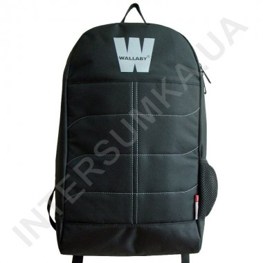 Заказать городской рюкзак Wallaby 149 чёрный с ортопедической спинкой