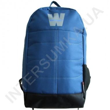Заказать городской рюкзак Wallaby 149 синий с чёрным с ортопедической спинкой в Intersumka.ua
