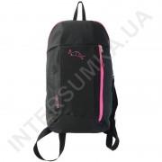 рюкзак городской молодежный Wallaby 151 черный с розовой отделкой