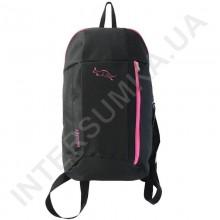 рюкзак міський молодіжний Wallaby 151 чорний з рожевим оздобленням