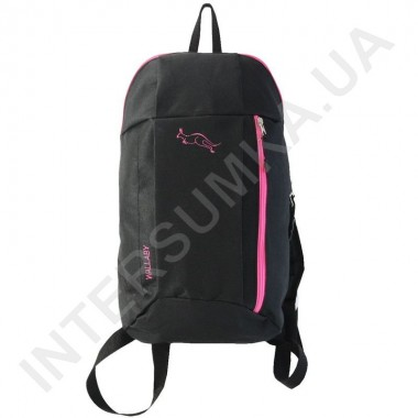 Заказать рюкзак городской молодежный Wallaby 151 черный с розовой отделкой