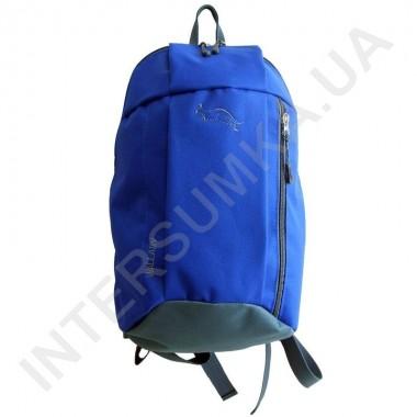 Заказать рюкзак міський молодіжний Wallaby 151 яскраво-синій з сірим оздобленням