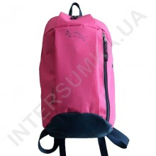 рюкзак міський молодіжний Wallaby 151 яскраво-рожевий з сірим оздобленням