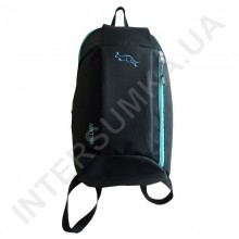 рюкзак міський молодіжний Wallaby 151 чорний з м'ятною обробкою