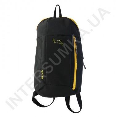 Заказать рюкзак городской молодежный Wallaby 151 черный с жёлтой отделкой в Intersumka.ua