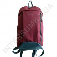 рюкзак міський молодіжний Wallaby 151 бордовий з сірої обробкою