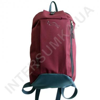 Заказать рюкзак городской молодежный Wallaby 151 бордовый с серой отделкой в Intersumka.ua