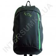 Купить рюкзак городской молодежный Wallaby 151 черный с ярко-зелёной отделкой