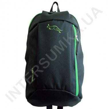 Заказать рюкзак городской молодежный Wallaby 151 черный с ярко-зелёной отделкой в Intersumka.ua