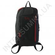 Купить рюкзак городской молодежный Wallaby 151 черный с красной отделкой