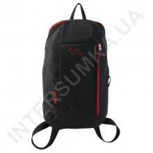 рюкзак міський молодіжний Wallaby 151 чорний з червоною обробкою