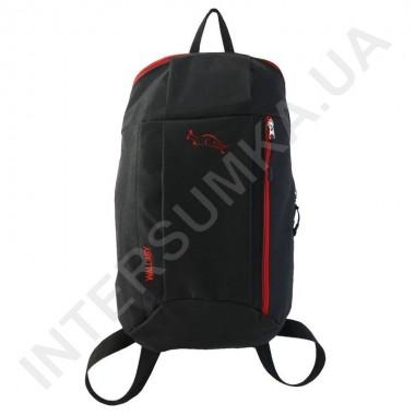 Заказать рюкзак городской молодежный Wallaby 151 черный с красной отделкой в Intersumka.ua