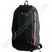 рюкзак городской молодежный Wallaby 151 черный с терракотовой отделкой