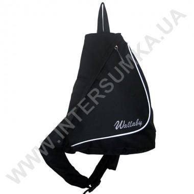 Заказать рюкзак городской на одной лямке на два отдела Wallaby 170 черный