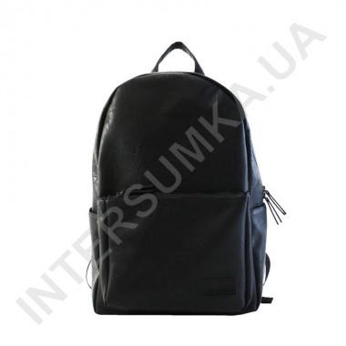 Заказать Вместительный городской рюкзак из кожзама Wallaby 172158 черный в Intersumka.ua