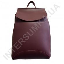 Женский рюкзак Wallaby 174484 темно-бордовый ЭКОКОЖА