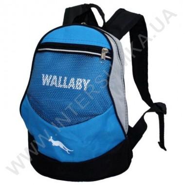 Заказать рюкзак детский Wallaby 152 голубой