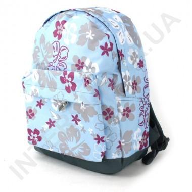 Заказать рюкзак молодежный Wallaby 1354 голубой цветочек в Intersumka.ua