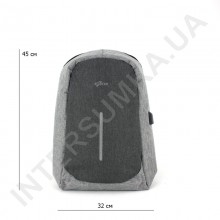 міський рюкзак-антизлодій EBOX 67115_grey з відділом під ноутбук+usb